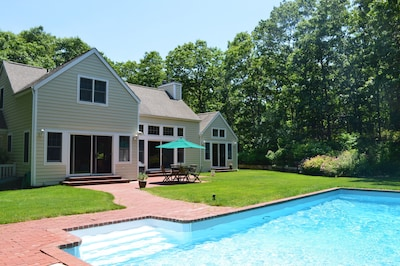Sun-filled home in coveted NW area of East Hampton, close to beaches