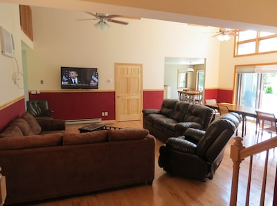 Very large living room in the 10 bedroom house