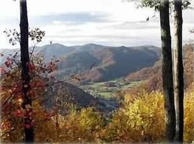 Breathtaking Fall Mountain View from Covered Deck