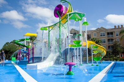 Free water park in our resort!  Our condo's a one minute walk from the waterpar