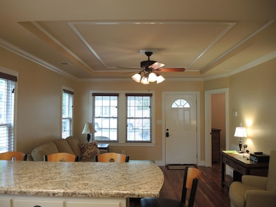 Living Room  & 'tray ceiling'