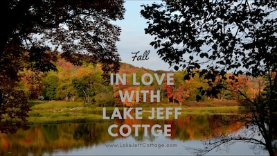 The Fall colors and views from Lake Jeff Cottage can be spectacular!