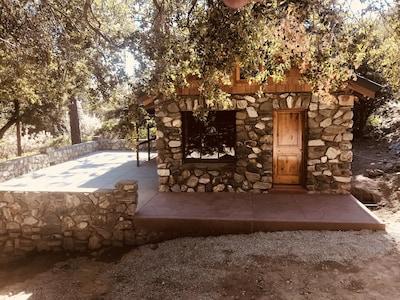 Cabin 22  Jacks Cabin at Historic SnowCrest Lodge 1 king bedroom, queen bed L/R