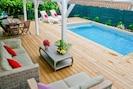 La terrasse et la piscine