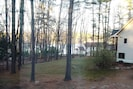 View to the lake from the front deck in the Fall.