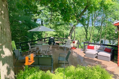 Our deck overlooking the Rock River.
