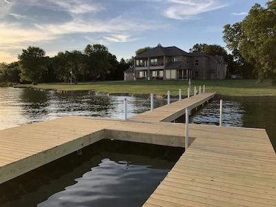 Convenient pier access in backyard
