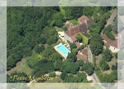 Luftbild von Mombette