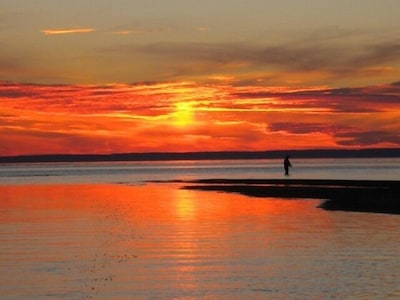 This could be you enjoying a beautiful sunset at the mouth of the Brule.