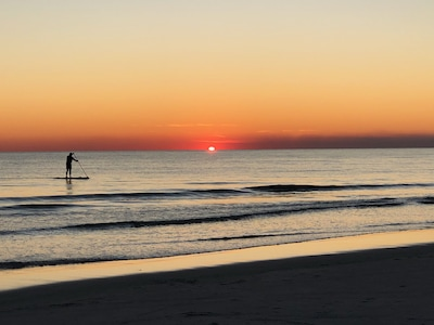Our beautiful beach at sunset