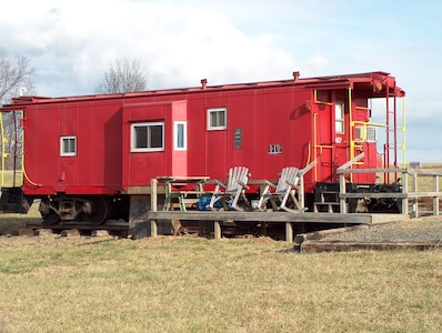 #407 - Authentic Railroad Cabooses And Depot Just Off The Blue Ridge Parkway