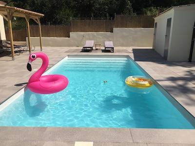 Maison vacances, 3 chambres, piscine privée, à 5 min des plages de Lloret de Mar