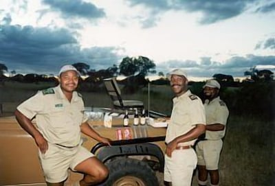 Sundowners before an evening game drive