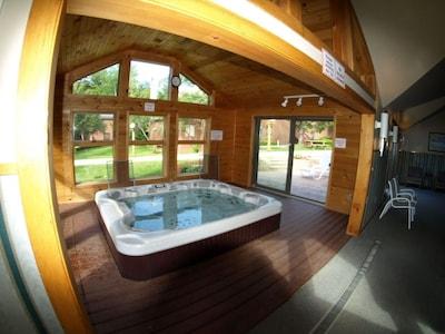hot tub in amenity building
