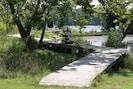Elevated walkway over tidal pool