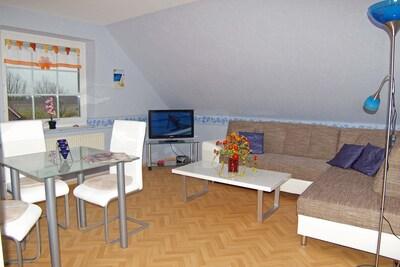 Ferienwohnung 7 = Wohnzimmer zum Relaxen
