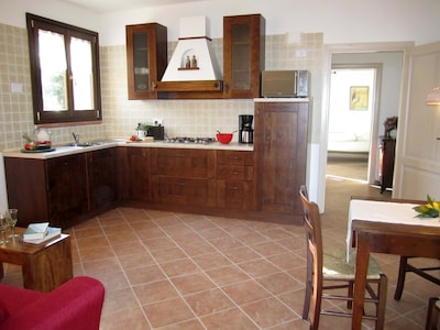 Spacious live-in kitchen