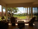 Wall of Windows.  Great view of Molokai and the beautiful, soft lawn.