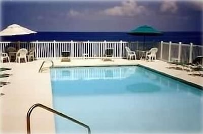 Sizable Oceanside Pool with Great Views; also see  Sunsets