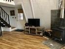 Living area electric fireplace and wood stove ( seasonal )