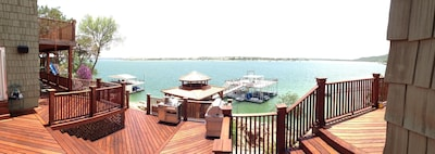 View from main deck looking at gazebo and double deck. Click on video for more