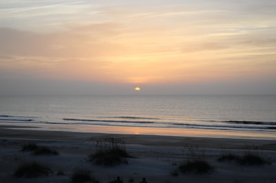 Watch the sunrise over the ocean