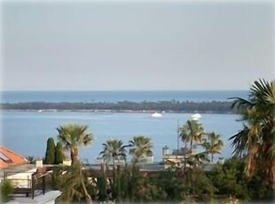View of the Mediterranean from balcony