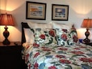 Guest bedroom w/bath and wall mounted 32' flat screen t.v. w/built in d.v.d