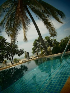 Sunrise Villa- perfect for relaxing- your view across the pool to beach