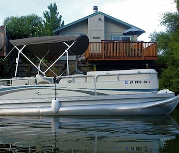 Dock your boat at the private dock
