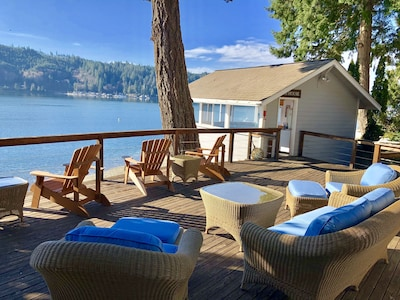 Soak in the views of Hood Canal from the expansive deck.