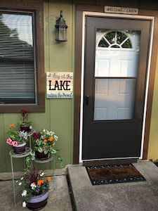 Our sign says it all....A Day at the Lake restores the Soul!  🌞