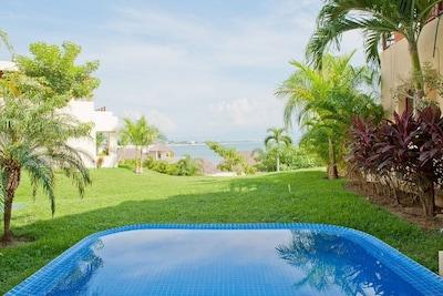 View from garden terrace