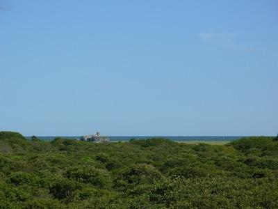 Ocean view across the moors