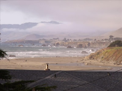 View from the great room to the Pacific coastline.