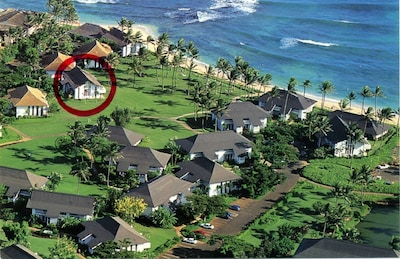 Condo #22 is directly on The Great Lawn with an unobstructed view of Poipu Beach