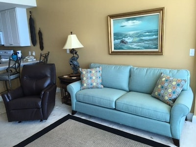 Living Room couch and recliner