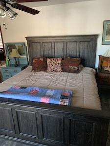 King size master bedroom bed