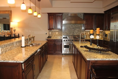 Commercial kitchen with Viking Appliances