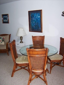 Dining Area, Living Room and out to Lanai and Pacific Ocean @ Kahana Reef #313
