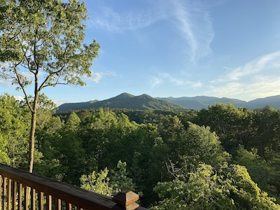 Beautiful mountain view from our front deck