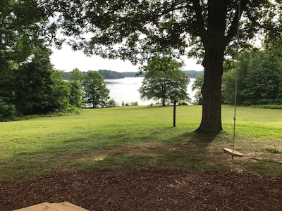 View from the deck - with the best rope swing ever!