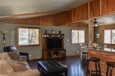 """Living room with 50"""" flat screen TV"""