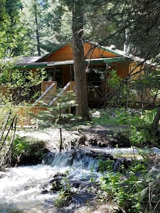 The Cabin  from the stream side.  The sound of the water  alone is heavenly.