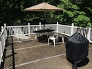 Nice top deck of boat dock, including fire pit for your enjoyment!