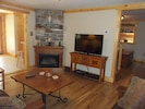 Living Room TV & Fireplace