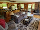 Open floor plan of living room and kitchen