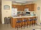 Kitchen with spacious snack bar