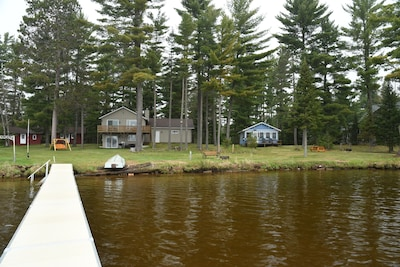 Main & Guest house - lakeside view - both houses have private pier and firepit