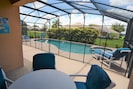 pool/patio and covered lanai area